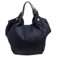 Givenchy Black Fabric Stitch Detail Hobo