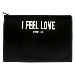 Givenchy Black I Feel Love Clutch 30cm