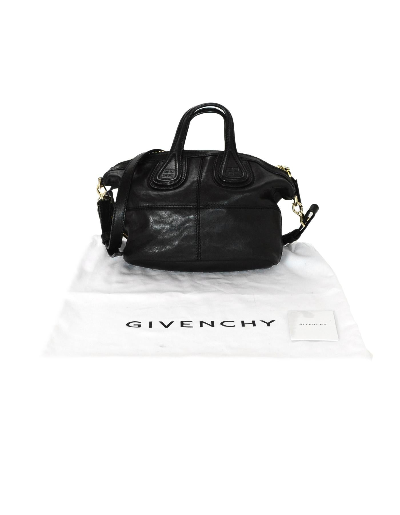 2ab6d605b6 Givenchy Black Lambskin Leather Micro Nightingale Crossbody Bag For Sale at  1stdibs