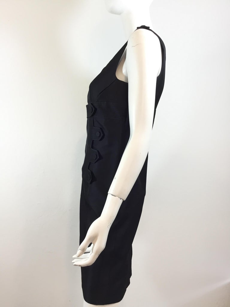 Givenchy Black LBD Silk Blend Dress In Excellent Condition For Sale In Carmel by the Sea, CA