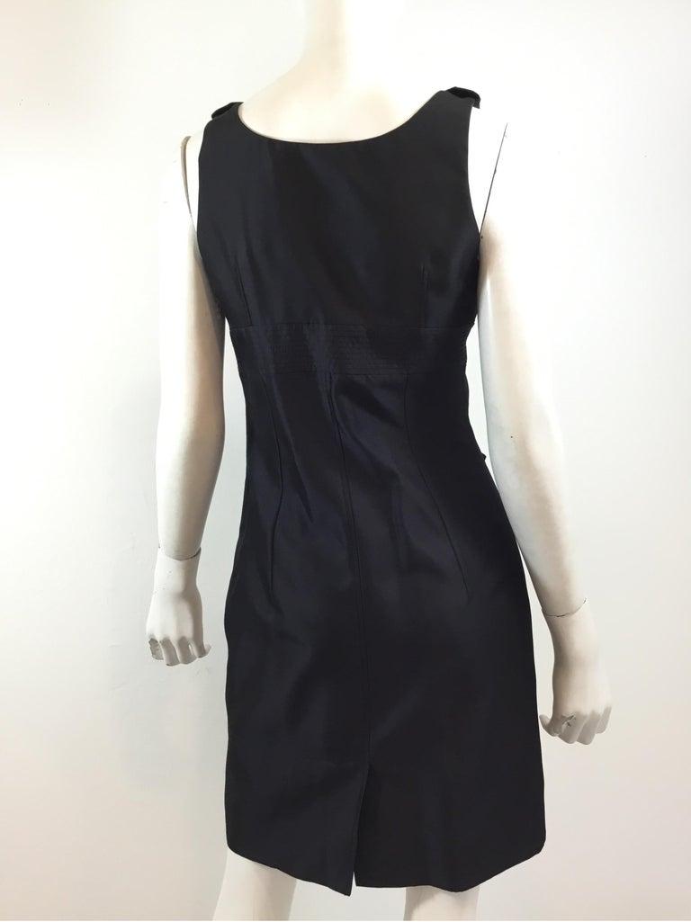 Women's Givenchy Black LBD Silk Blend Dress For Sale