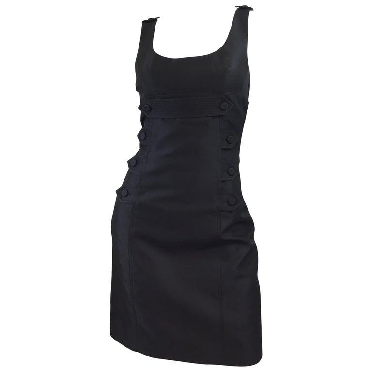 Givenchy Black LBD Silk Blend Dress For Sale