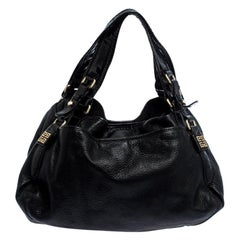 Givenchy Black Leather and Patent Leather Hobo