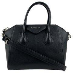 Givenchy Black Leather Small Antigona Bag Satchel Handbag with Strap