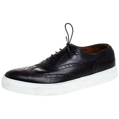 Givenchy Black Leather Brogue Wingtip Oxford Sneakers Size 42