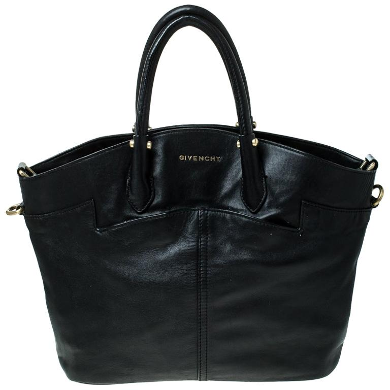 Givenchy Black Leather Front Pocket Satchel