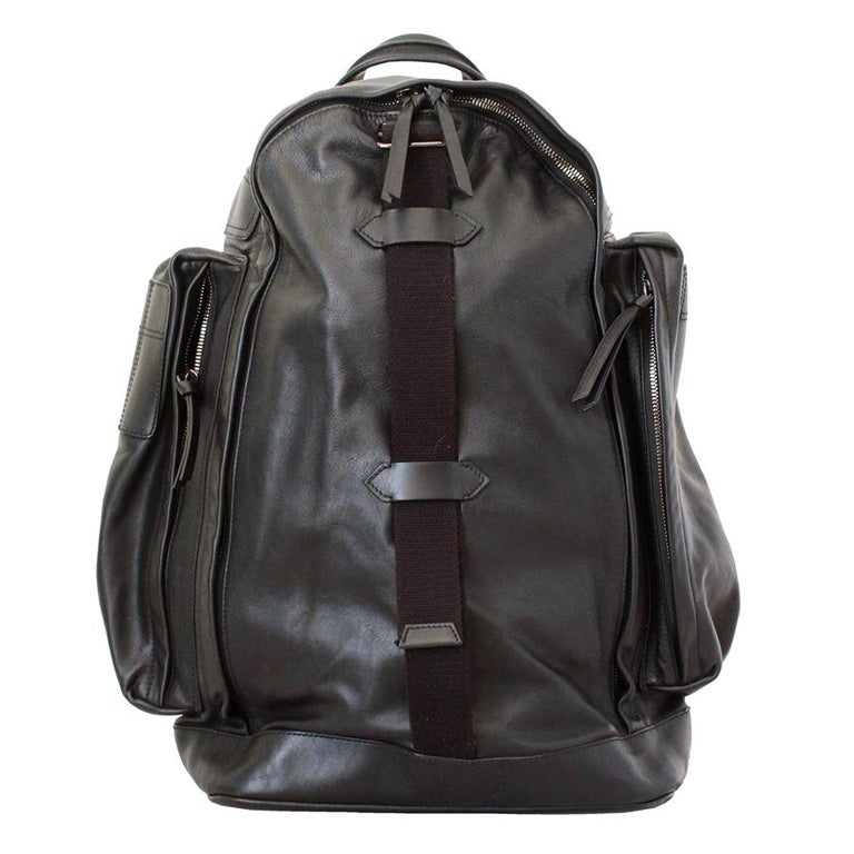 Givenchy Black Leather Large Backpack For Sale
