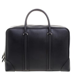 Givenchy Black Leather LC Briefcase