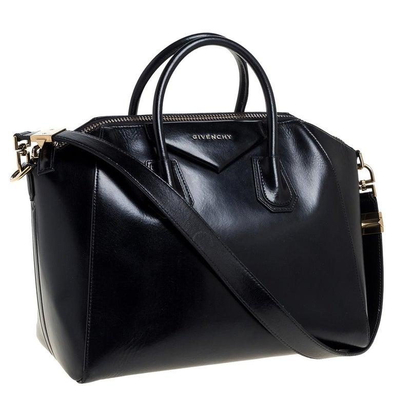 Women's Givenchy Black Leather Medium Antigona Satchel
