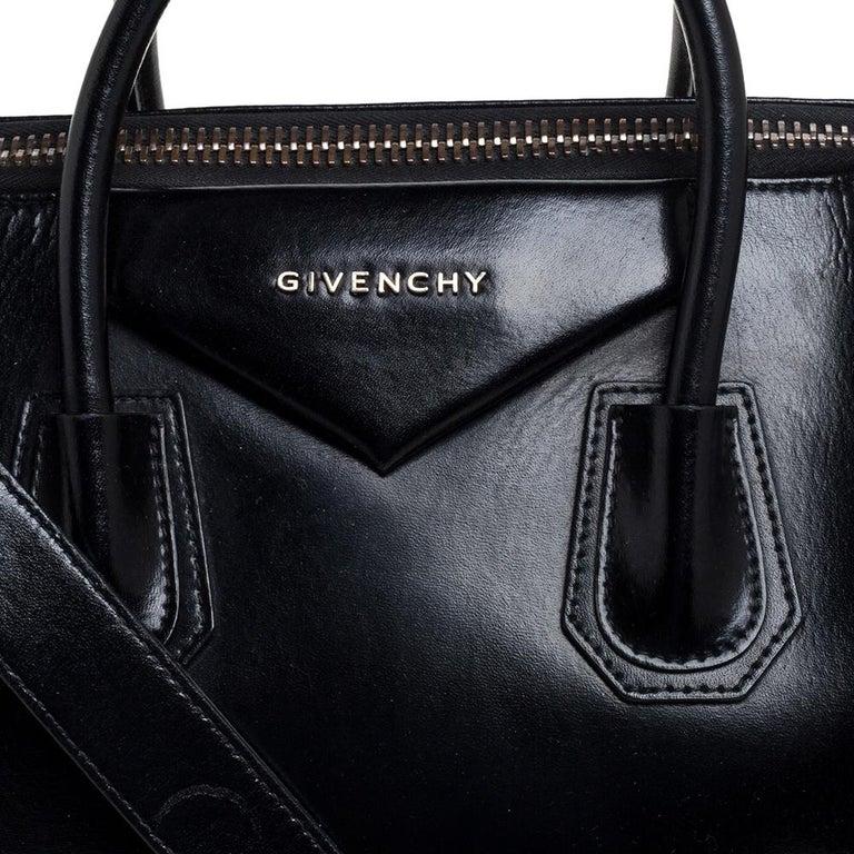 Givenchy Black Leather Medium Antigona Satchel 5