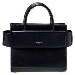 Givenchy Black Leather Mini Horizon Crossbody Bag