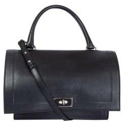 GIVENCHY black leather SHARK MINI Shoulder Bag