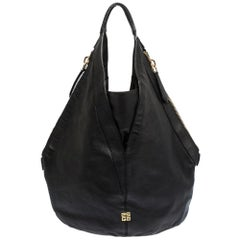 Givenchy Black Leather Tihan Hobo