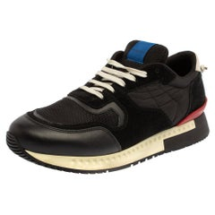 Givenchy Black Mesh And Leather Active Runner Sneakers Size 43
