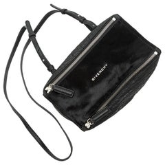 Givenchy Black 'Pandora' Ponyhair & Leather Crossbody Bag