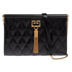 Givenchy Black Quilted Leather Medium Gem Shoulder Bag