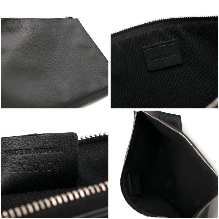 bd1d4b415b Givenchy Black Rottweiler Large Zipped Pouch For Sale 4