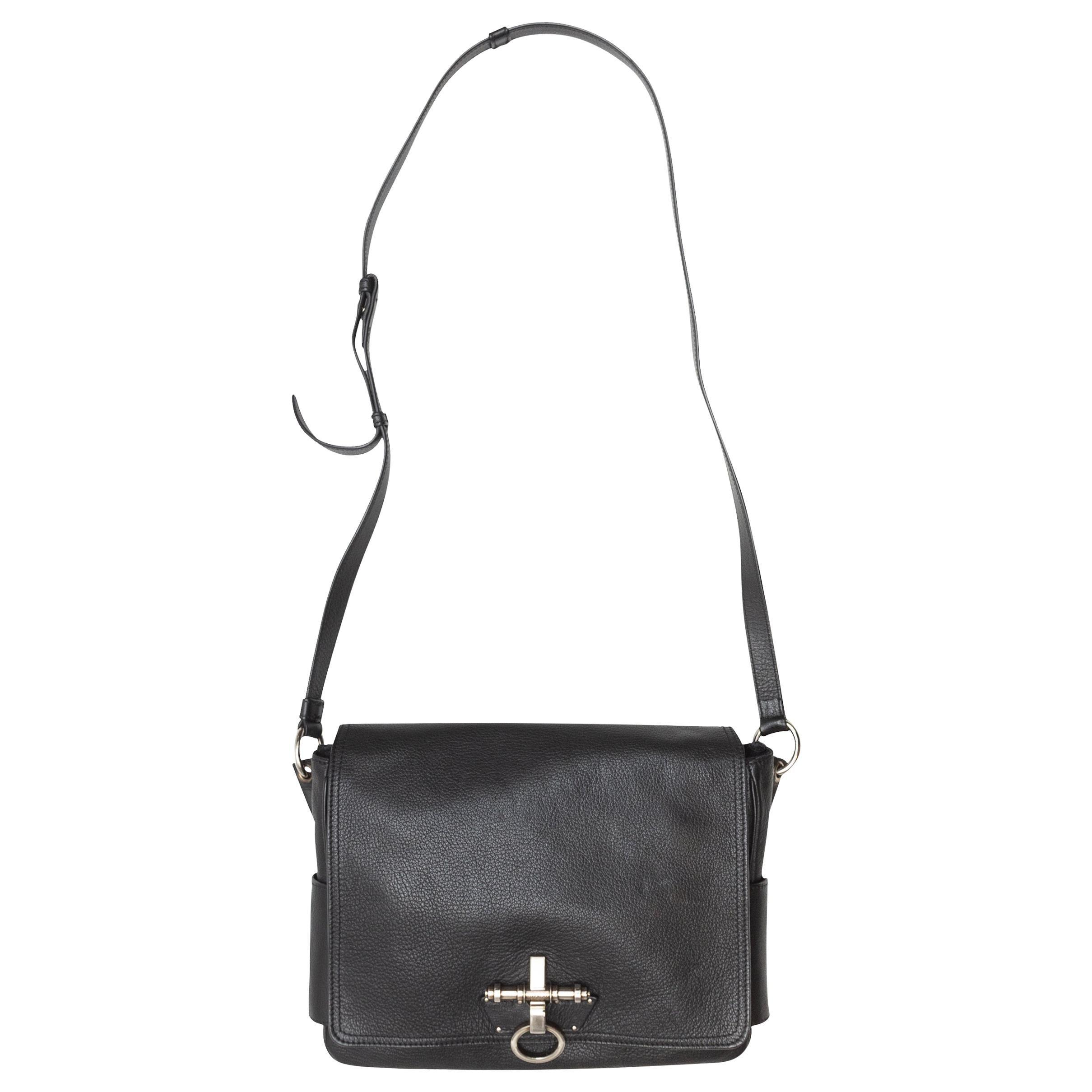 Givenchy Black Soft Leather Obsedia Crossbody Bag