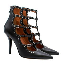 Givenchy Black Studded Caged Sandals 36