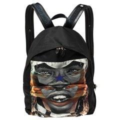 Givenchy Black Sunset Print Nylon Backpack