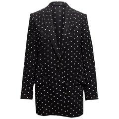 Givenchy Black & White Cross Printed Longline Blazer