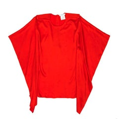 GIVENCHY Blouse in Red Silk Size 38