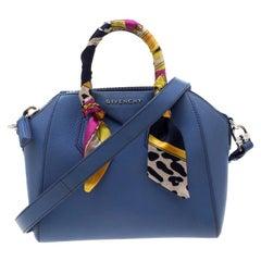 Givenchy Blue Leather Mini Antigona Satchel