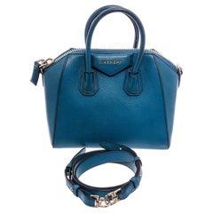 Givenchy Blue Leather Small Antigona Satchel Bag