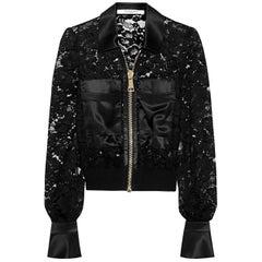 Givenchy Bomber jacket with silk-satin panels US 0-2