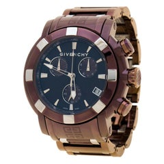 Givenchy Brown/Bronze PVD Coated Stainless Steel GV5220J Men's Wristwatch 48 mm