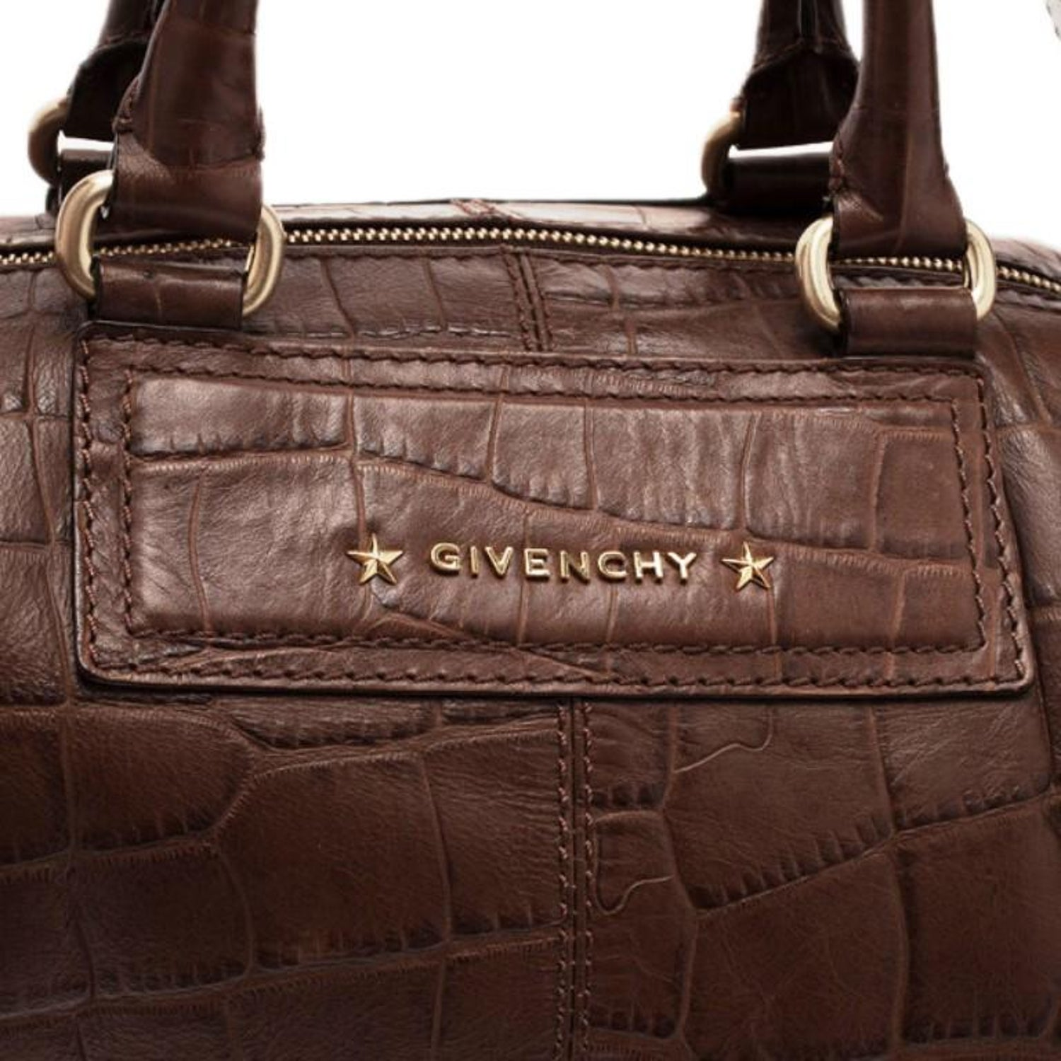11b9700d2918 Givenchy Brown Croc Embossed Duffle Bag im Angebot bei 1stdibs