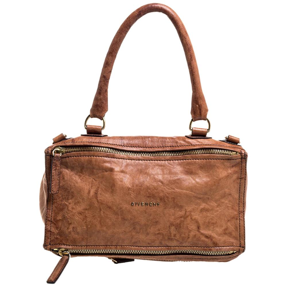 Givenchy Brown Leather Large Pandora Shoulder Bag