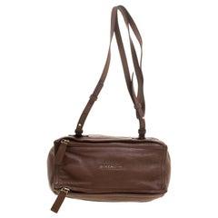Givenchy Brown Leather Pandora Messenger Bag