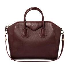 Givenchy Burgundy Leather Medium Antigona Satchel