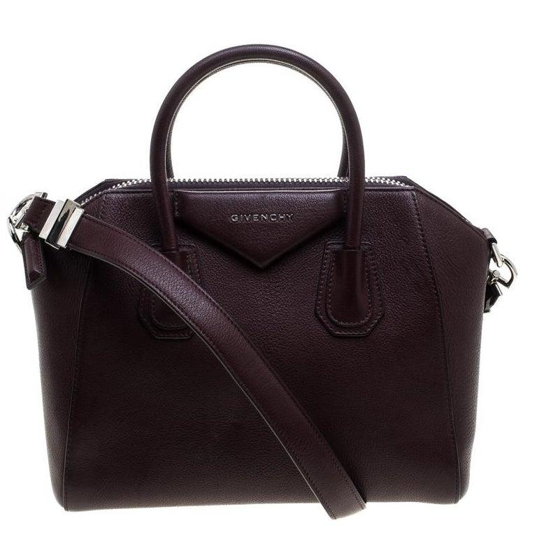 219cc175fd2 Givenchy Burgundy Leather Small Antigona Satchel For Sale at 1stdibs