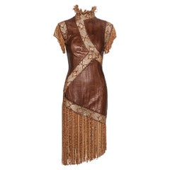 Givenchy by Alexander McQueen Haute Couture brown snakeskin dress, ss 2001