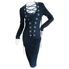 Givenchy by Riccardo Tischi Cocktail Dress with Bold Corset Lace Details