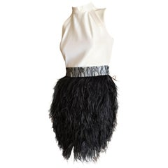 Givenchy by Riccardo Tischi Cocktail Dress with Feather Skirt 2011