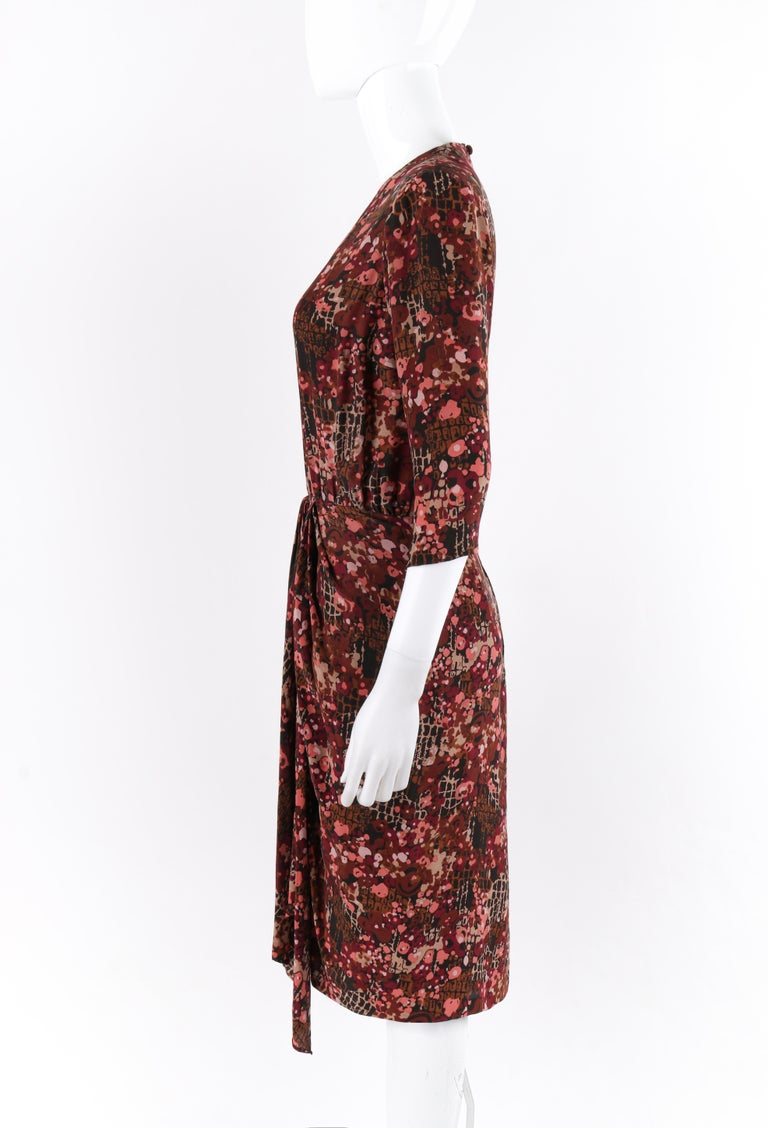 GIVENCHY c.1970's Haute Couture Silk Floral Print Sheath Dress Numbered For Sale 2