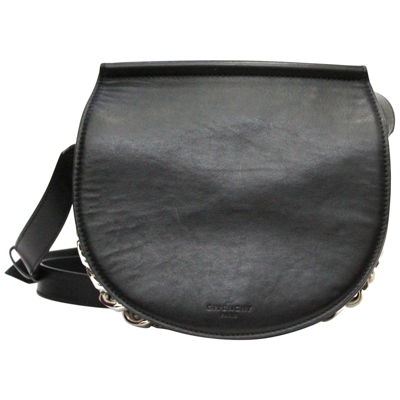 GIVENCHY Calfskin Mini Infinity Saddle Bag Black