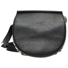 GIVENCHY Calfskin Mini Infinity Saddle Bag Black