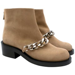Givenchy Camel Chain Suede Leather Ankle Boot 38.5