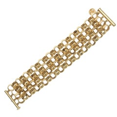 Givenchy Chain Gold Plated Link Cuff Bracelet
