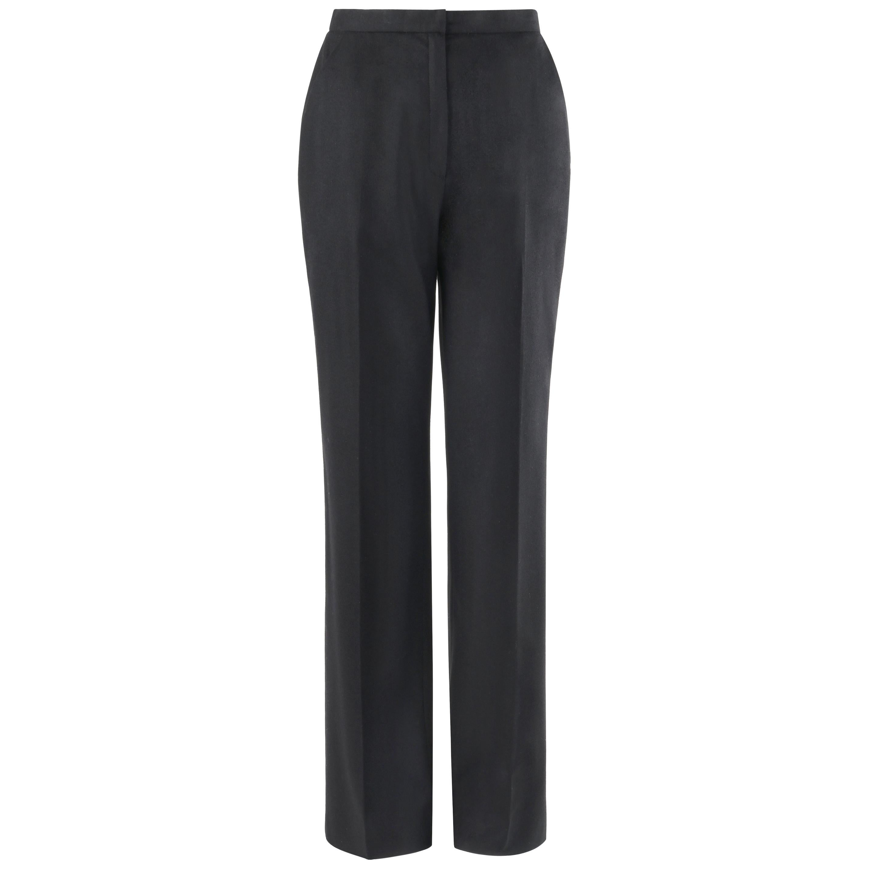 GIVENCHY Couture A/W 1998 ALEXANDER McQUEEN Black Straight Leg Trouser Pants