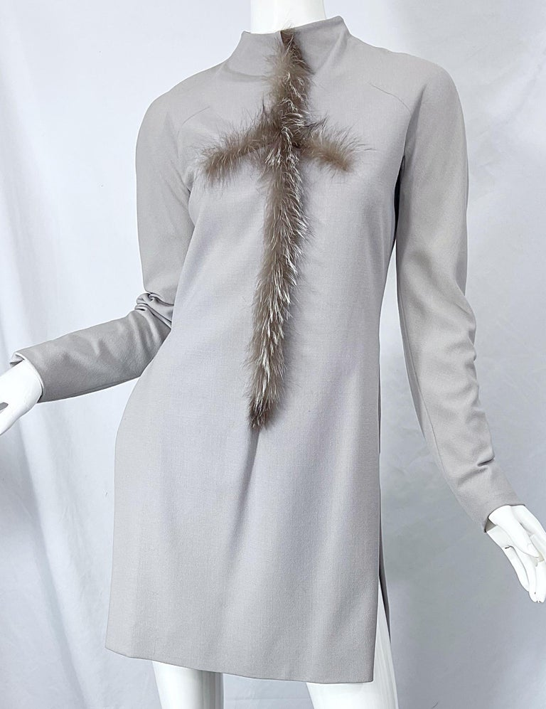 Givenchy Couture Alexander McQueen F/W 2003 Grey Runway Tunic + Slim Pants For Sale 11