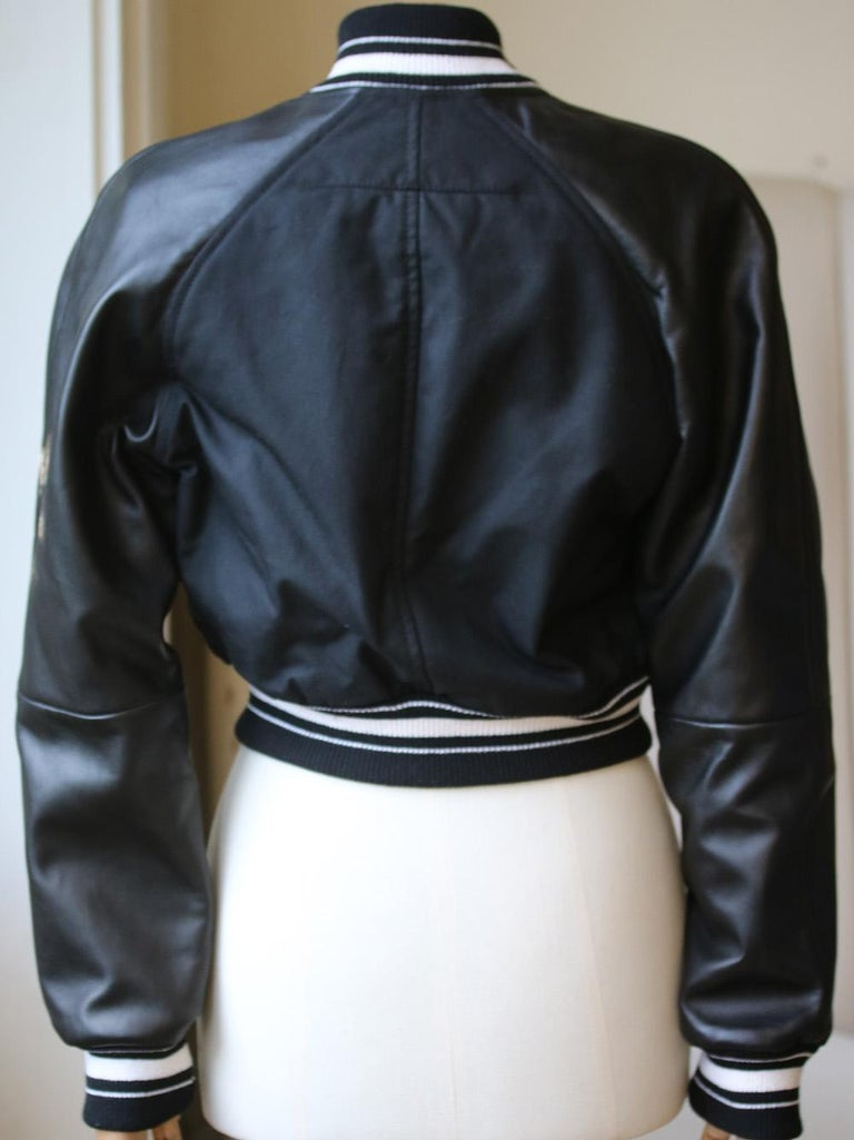 Givenchy Cropped Bomber Jacket  In Excellent Condition For Sale In London, GB