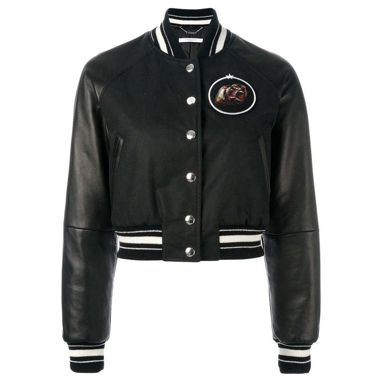 Givenchy Cropped Bomber Jacket  For Sale