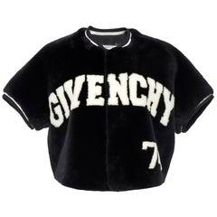 Givenchy Cropped Fur Baseball Jacket
