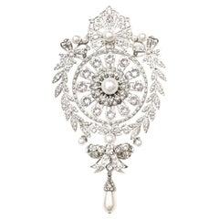 Givenchy Crystal & Faux Pearl XL Brooch Pin rt. $1,325