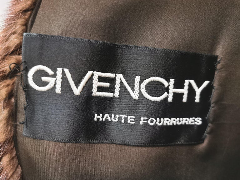 Givenchy Haute Fourrures Demi Buff Mink Fur Coat (Size 12 - M) For Sale 4